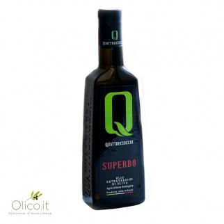 Olio Extra Vergine di Oliva Superbo 100% Moraiolo Biologico Quattrociocchi