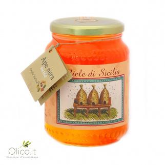 Siciliaanse WIlde Bloemenhoning van Zwarte Bijen 1 kg