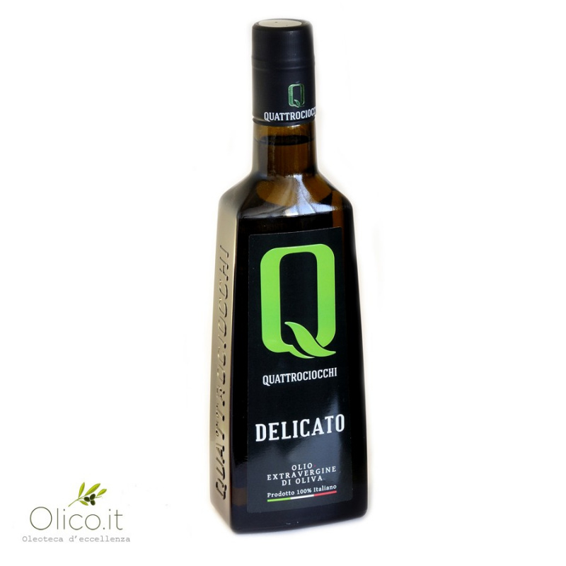 Extra Virgin Olive Oil Delicato 100% Leccino Quattrociocchi