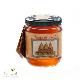 Basilicumhoning van Siciliaanse Zwarte Bijen 250 gr