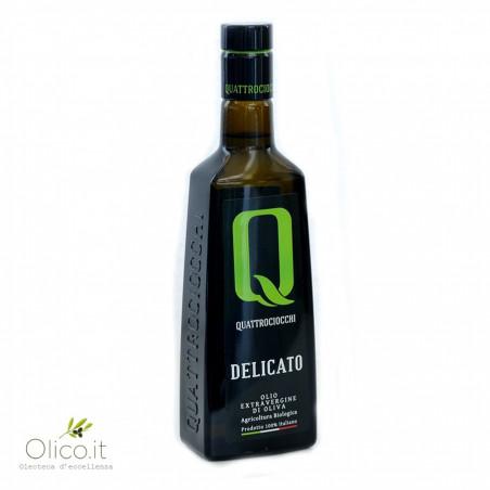 Olio Extra Vergine di Oliva Delicato 100% Leccino Biologico Quattrociocchi