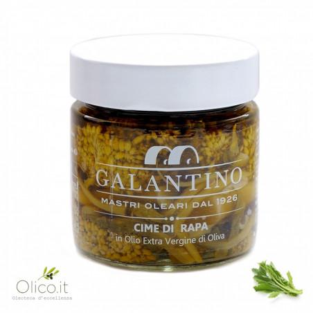 Blumen von Brokkoli im Natives Oliven Öl