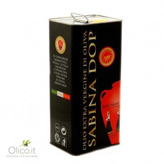 Huile d'Olive Extra Vierge AOP Sabina 5 lt