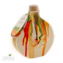 """Fiaschetta in Ceramica Deruta """"Color Fall"""" con Olio Extra Vergine di oliva"""