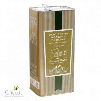 Huile d'Olive Extra Vierge Fruitée Moyenne 5 lt