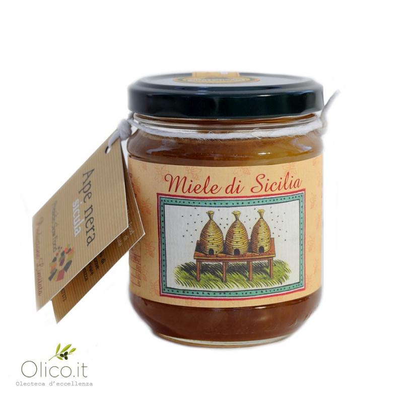 Miel toutes fleurs de l' île de Vulcano - Abeille Noire Sicilienne