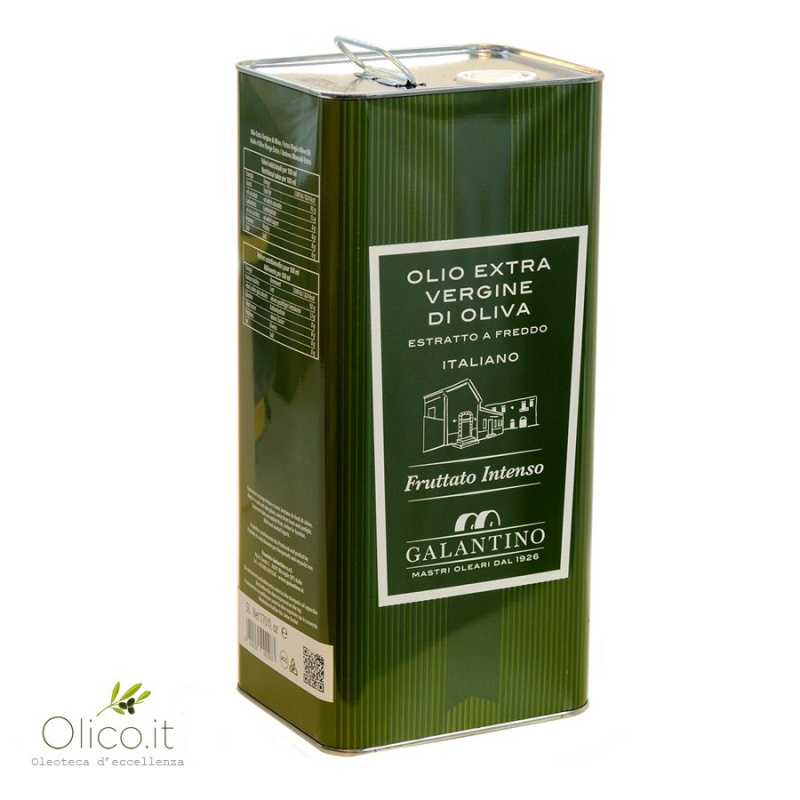 Huile Extra Vierge d'Olive Intense Puglia Galantino