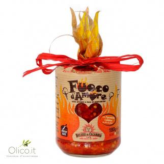 Fuoco d'Amore - Salsa Piccante a base di Peperoncino 180 gr