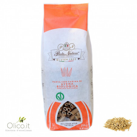 Maccheroni Gluten Free Pasta with Organic Oat flour 250 gr