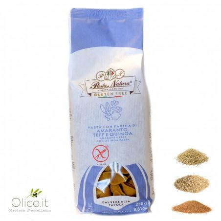 Conchiglie senza glutine con farina di Amaranto, Teff e Quinoa
