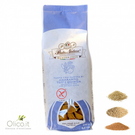Conchiglie Glutenvrije Pasta van Amarant, Teff en Quinoa bloem 250 gr