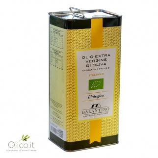 Olio Extra Vergine di Oliva Biologico 5 lt
