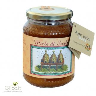 Bramenhoning van Siciliaanse Zwarte Bijen 1 kg
