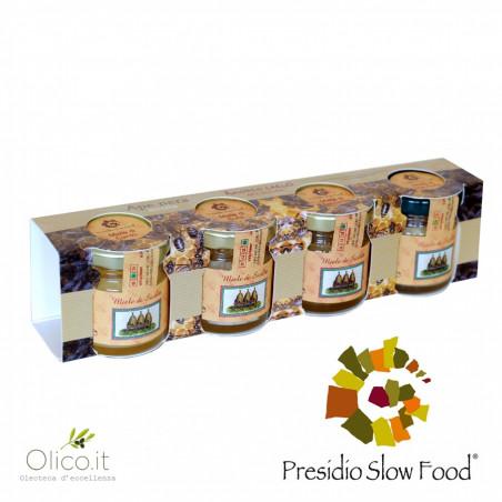 Sizilianische Schwarzbiene Frühlingshonigs Verkostung kit 40 gr x 4