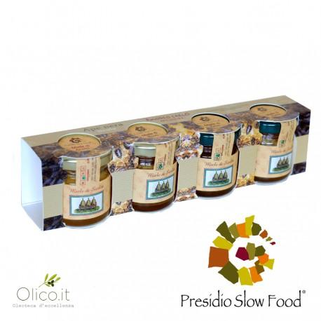 Set dégustation miel d'été Abeille Noire Sicilienne