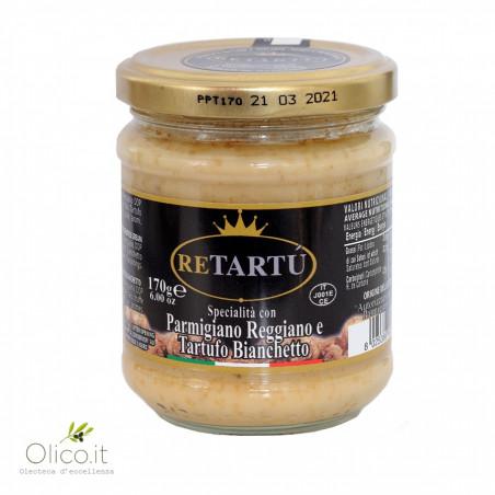 Trüffelsoße mit Trüffel Bianchetto und Parmigiano Reggiano DOP 170 gr