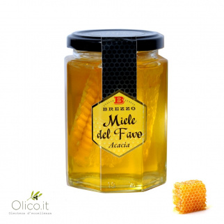 Acacia Honeycomb in glass jar 350 gr
