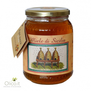 Cardoon Thistle Honey Sicilian Black Bee 1 kg