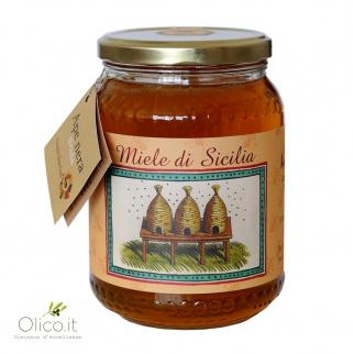Speerdistelhoning van Siciliaanse Zwarte Bijen 1 kg