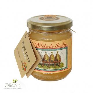 Citroenhoning van Siciliaanse Zwarte Bijen 250 gr