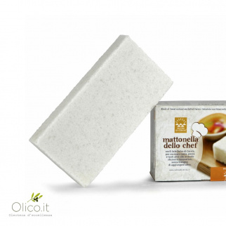 Mattonella dello Chef:  Block of Sweet natural sea salt of Cervia