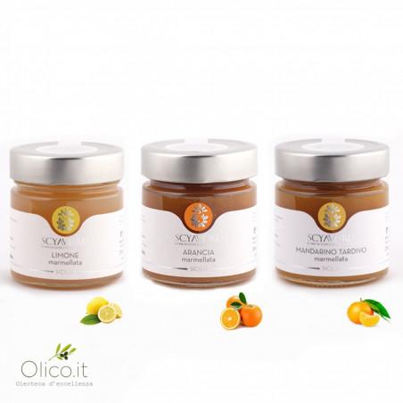 Set Marmelades Citron Orange et Mandarine Tardive 250 gr x 3