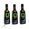 Sélection 3 Huiles d'Olive Monovriétales Quattrociocchi      Delicato - Superbo  - Olivastro