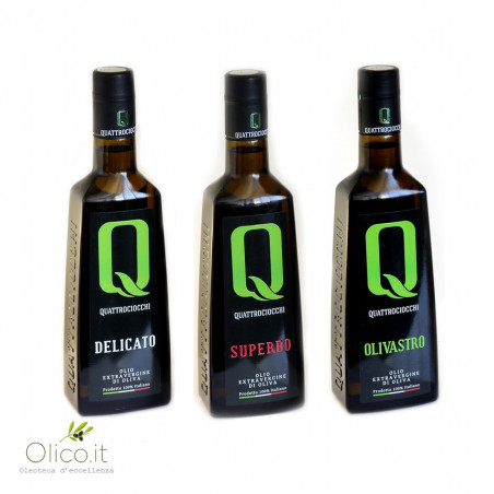 Olivenöl Monokultivares Quattrociocchi Auswahl   Delicato - Superbo - Olivastro