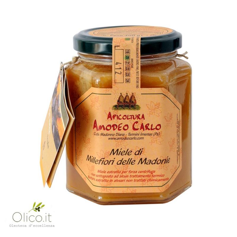 Miel toutes fleurs des Monts Madonie - Abeille Noire Sicilienne