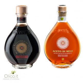 I classici Due Vittorie - Aceto Balsamico Oro e Mela in barrique 500 ml x 2