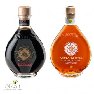 Los Clásicos Due Vittorie - Vinagre Balsámico Oro y Manzana en barrica 500 ml x 2