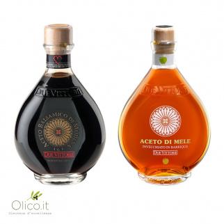 Los Clásicos Due Vittorie - Vinagre Balsámico Oro y Manzana en barrica 250 ml x 2