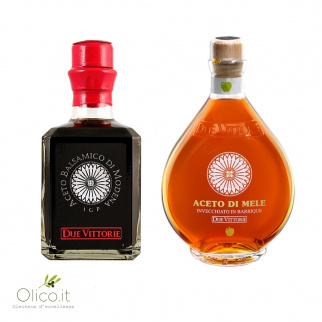 Bis Aceto Due Vittorie - Balsamico Argento e Mela in barrique 250 ml x 2