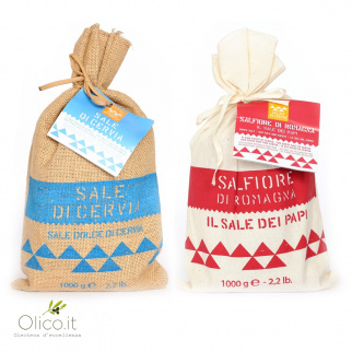 Sea salts from Cervia salt pan: Sweet Salt and Popes salt 1 kg x 2