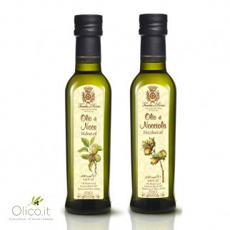 Set Aceites especiales Tenuta del Roero: Nuez y Avellana 250 ml x 2