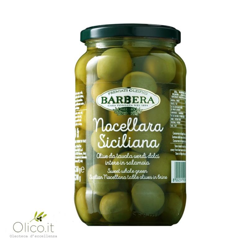Olive Nocellara Siciliana intere in salamoia