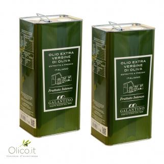 Olio Extra Vergine di Oliva Fruttato Intenso 5 lt x 2