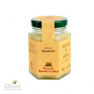 Amandelhoning van Siciliaanse Zwarte Bijen 100 gr