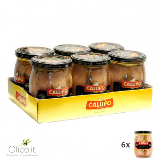 Callipo Tuna fish fillets in olive oil Riserva Oro 550 gr x 6