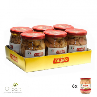 Callipo Tuna fish Slices in olive oil 550 gr x 6