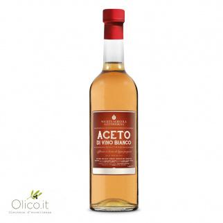 Aceto di Vino Bianco Affinato in botti di legni pregiati 500 ml