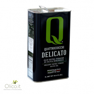 Biologisches natives Olivenöl Delicato 3 lt