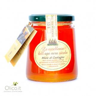 Miel de Châtaignier Abeille Noire Sicilienne 400 gr