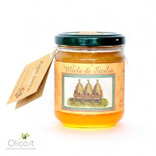 Johannesbroodboomhoning van Zwarte Siciliaanse bijen 250 gr