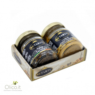Set Italian Truffle Specialties - Truffled Sauce and Porcini Mushrooms and White Truffle Cream