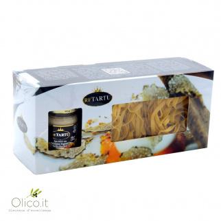 Paquet Cadeau Pâtes - Tagliatelle à la Truffe Blanche 250 gr et Sauce aux Truffes 45 gr