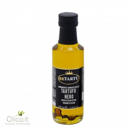 Natives Olivenöl mit trockner schwarzer Trüffel