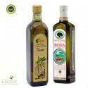 Sélection de 2 Huiles d'Olive Extra Vierges IGP - Toscane et Sicilienne