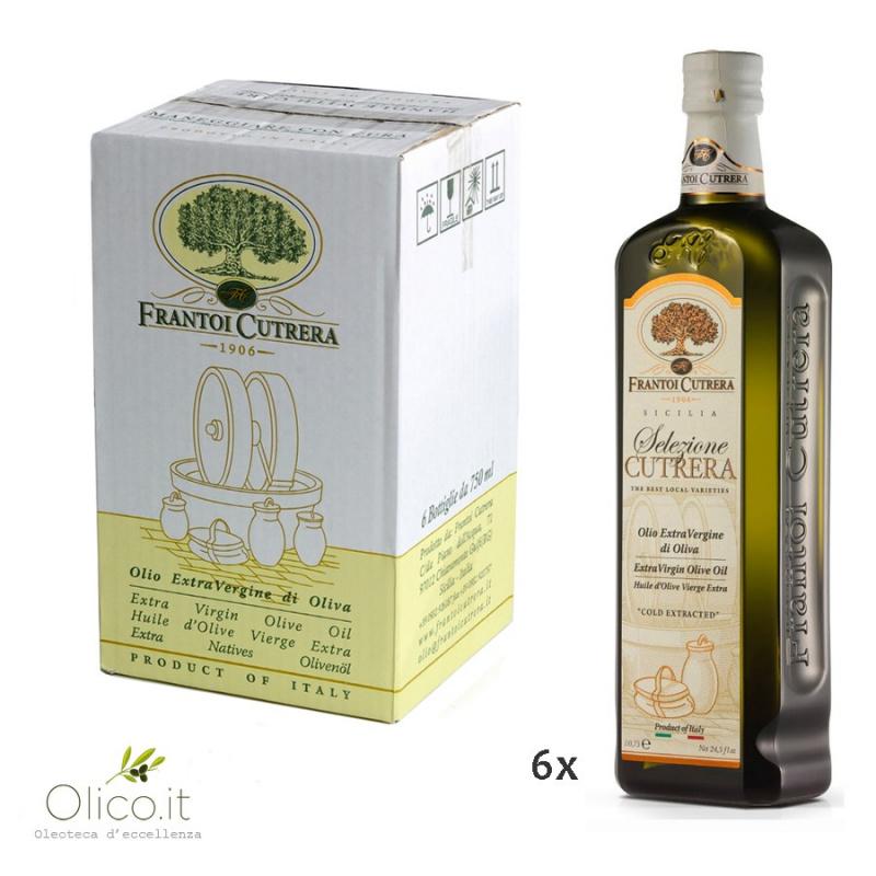 Extra Virgin Olive Oil Selezione Cutrera PGI Sicily 750 ml x 6
