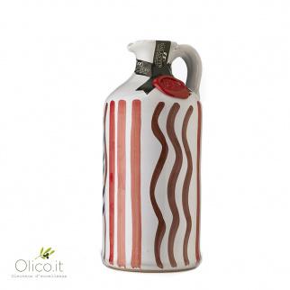 Botella de cerámica con Aceite de oliva virgen extra Affiorato 500 ml